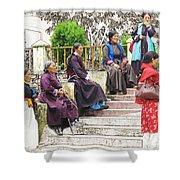 Waiting For The Karmappa Lama Shower Curtain