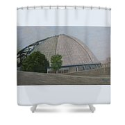 Waiting For The Next Event Mellon Arena Pittsburgh Shower Curtain