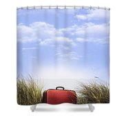 Waiting For The Next Trip Shower Curtain
