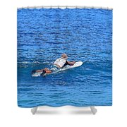 Waiting For The Perfect Wave Shower Curtain