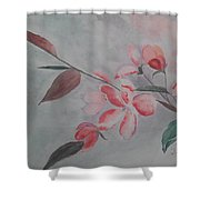 Waiting For The Spring Shower Curtain