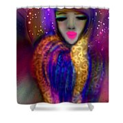 Waiting For Wisdom  Shower Curtain