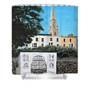 Waiting Room, Dun Laoghaire Shower Curtain