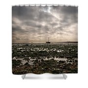 Waiting To Sail Shower Curtain