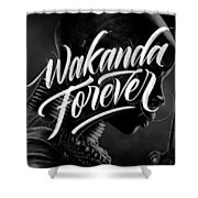 Wakanda Forever Okoye Shower Curtain