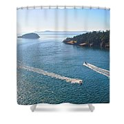 Wake-ful Waters Shower Curtain