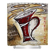 Wake Up Call Original Painting Madart Shower Curtain