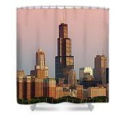 Wake Up Chicago Shower Curtain