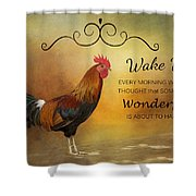 Wake Up Shower Curtain
