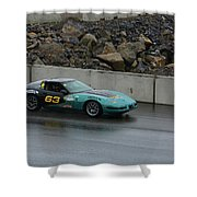 Wakefield Tire 63 Corvette Shower Curtain