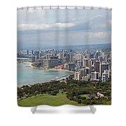 Wakiki Beach Hawaii Shower Curtain