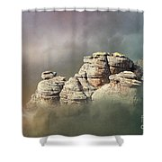 Waking Up In A Cloud Shower Curtain