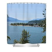 Waking Up In The Post Card Shower Curtain