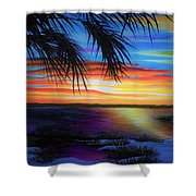 Wakulla Beach Morning Shower Curtain