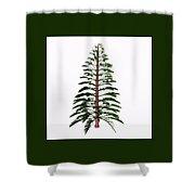 Walchia Tree Shower Curtain