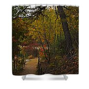 Walden Pond Path Into The Forest 2 Shower Curtain