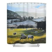 Wales. Shower Curtain