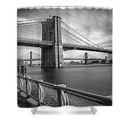 Walk Along The East River Shower Curtain