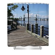 Walk Along The Fear River - Wilmington Shower Curtain