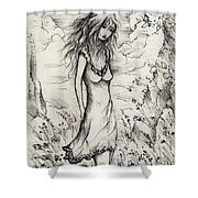Walk In The Whispers Shower Curtain