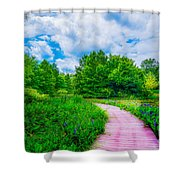 Walk Into Beauty Shaw's Nature Reserve Wet Lands Shower Curtain