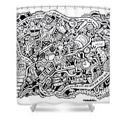 Walk Off Shower Curtain