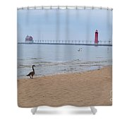 Walk On Lake Michigan Shower Curtain