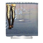 Walk On Water Shower Curtain