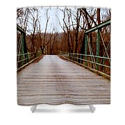 The Old Walk-or-ride Bridge Shower Curtain