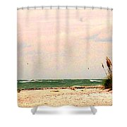 Walk The Beach Shower Curtain