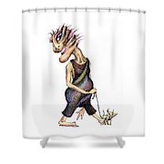 Walk The Dog Shower Curtain