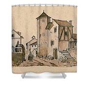 Walk Through Town Classic Shower Curtain