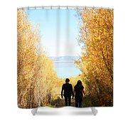 Walk To Mono Lake Shower Curtain