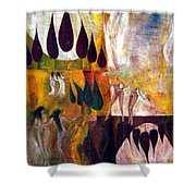 Walk Shower Curtain