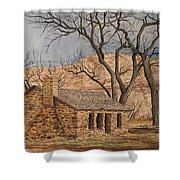 Walker Homestead In Escalante Canyon Shower Curtain