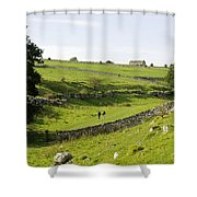 Walkers At Lathkill Dale Shower Curtain