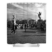 Walking Around Rome Shower Curtain