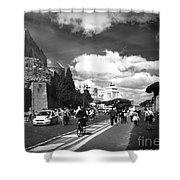 Walking Around The City Of Rome 2 Shower Curtain
