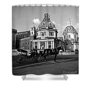 Walking Around The City Of Rome  Shower Curtain