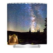 Walking Bridge To The Milky Way Shower Curtain