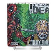 Walking Dead Deadpool Mash-up  Shower Curtain