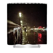Walking Home In The Rain Shower Curtain