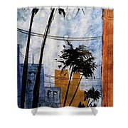 Walking Home, Watercolor Shower Curtain