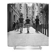 Walking In Barcelona Shower Curtain