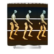Walking In Line Shower Curtain