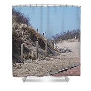 Walking In The Sand Shower Curtain
