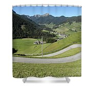 Walking Near Niederdorf In The Dolomites Shower Curtain