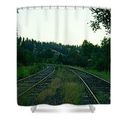 Walking Old Tracks Shower Curtain