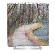 Walking The C And O Canal Shower Curtain