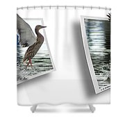 Walking On Water - Gently Cross Your Eyes And Focus On The Middle Image Shower Curtain